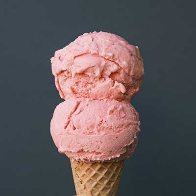 Molly Moon's Vegan Strawberry Burst Ice Cream